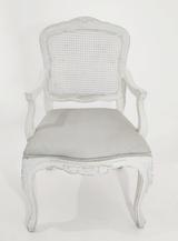 Cadeira Luiz XV branca com braço - Ref. 1022