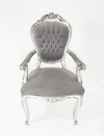 Cadeira Imperador Prata com braço - Ref. 1000