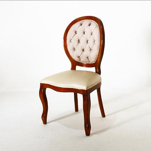 Cadeira medalhão madeira