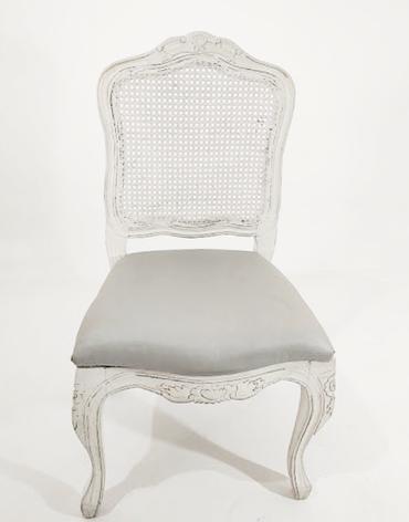 Cadeira Luiz XV Branca sem braço - Ref. 1021