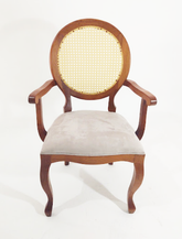 Cadeira Medalhão Palha com braço - Ref. 1007