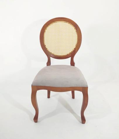 Cadeira Medalhão Palha sem braço - Ref. 1008