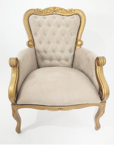 Poltrona Luiz XV Dourada