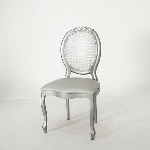 Cadeira medalhão prata