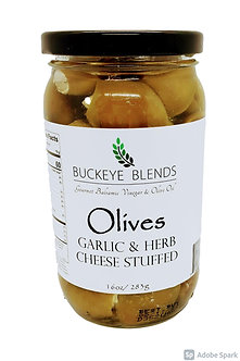 Garlic & Herb Cheese Stuffed Olives 16oz