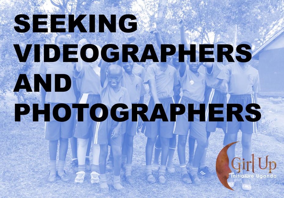 Seeking Videographers and Photographers