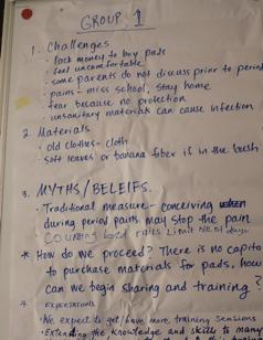 Girl Up Initiative Uganda Facilitators Available for Sanitary Pads Training