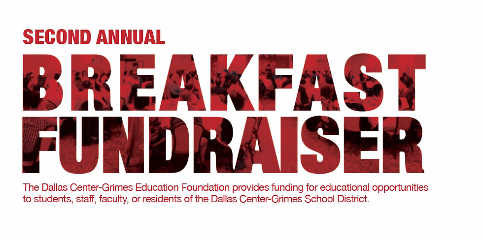 Second Annual Dallas Center-Grimes Education Foundation Breakfast Fundraiser