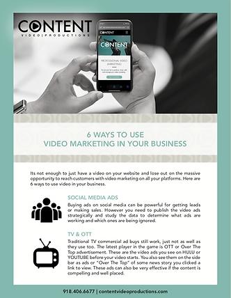 6 Ways to use video marketing