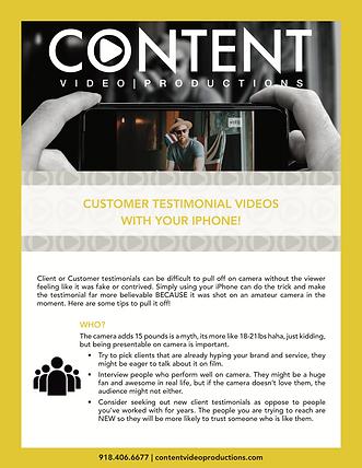 Customer Testimonial Videos Content Vide