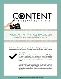 Where To Start Content Video Productions