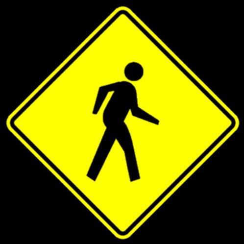 WD14 Pedestrian Crossing Sign