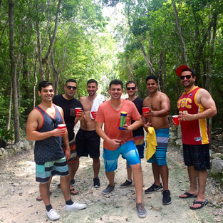 Bachelor party in the jungle