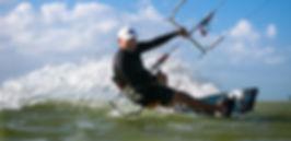 Kitesurfing in isla blanca mexico