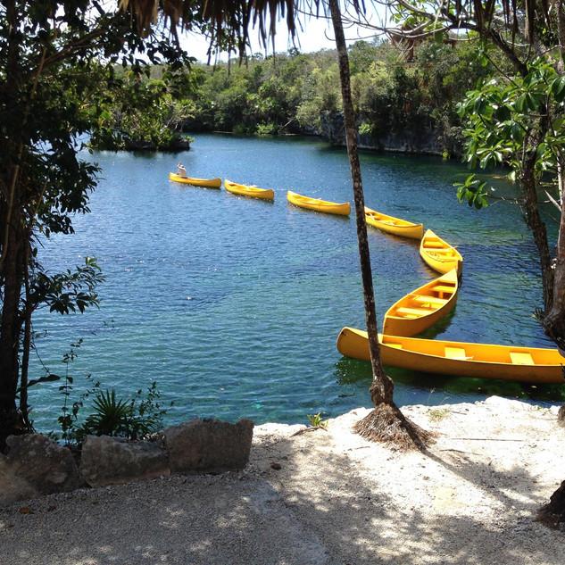 Canoes in Tankah