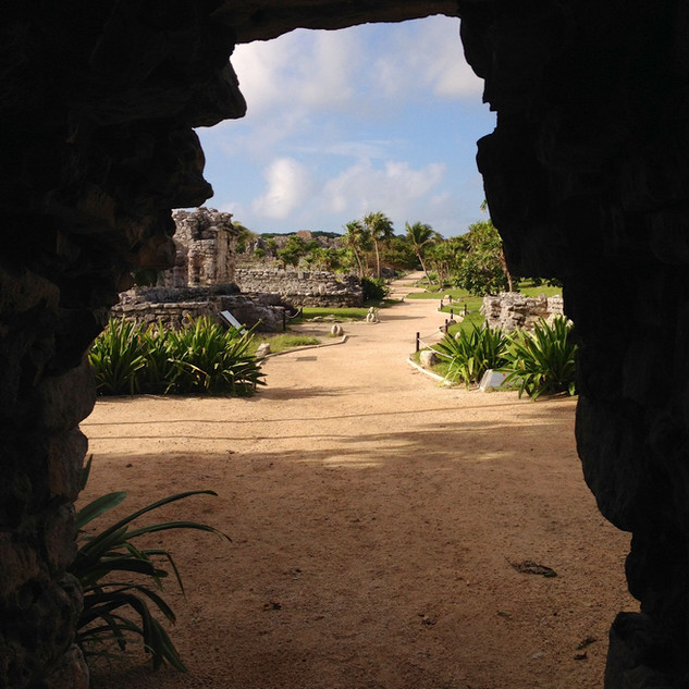 Mayan entrance in Tulum