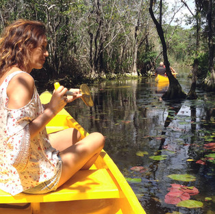 Canoeing in private reserve