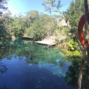 Cenote in the jungle