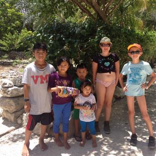 Kids in the mayan village