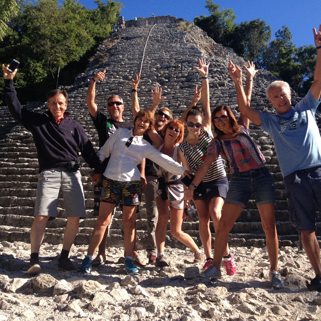 Happy gang in Coba
