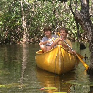 Canoes in cenote