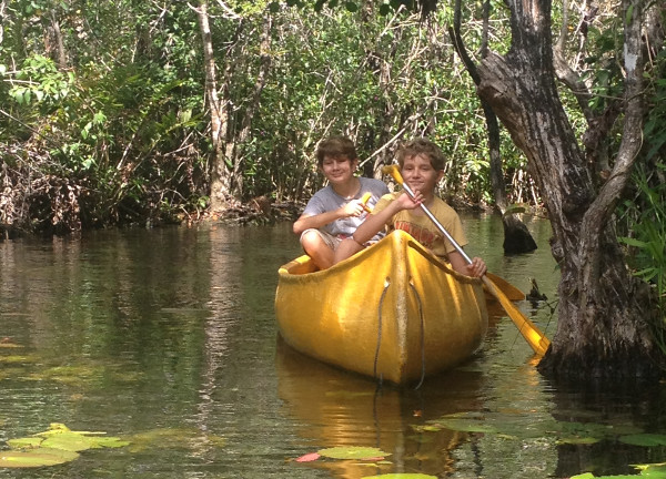 Canoes in cenote