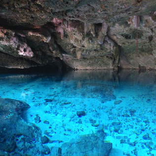 Blue waters of the cenote