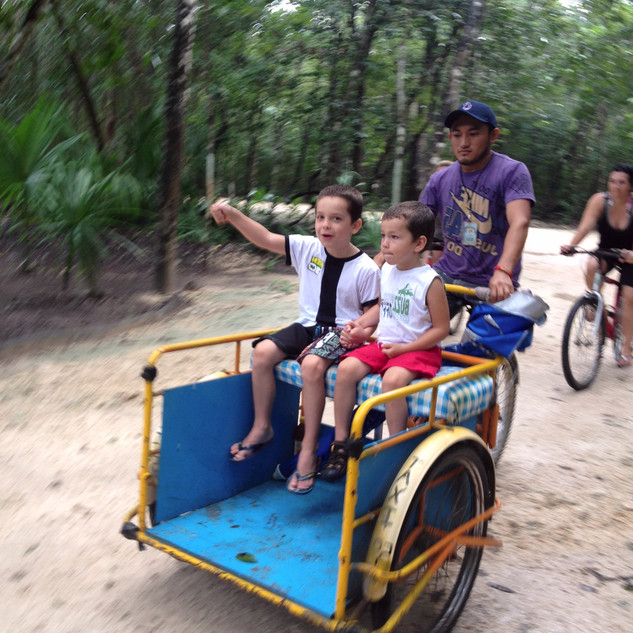 tricycle mayan cab