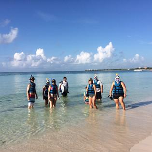 Snorkeling dans la baie