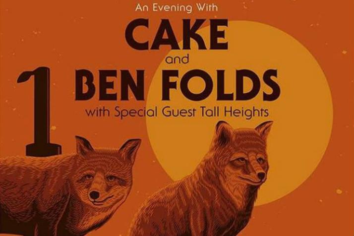 CAKE and Ben Folds Co-headline at Golden 1 Center in Sacramento