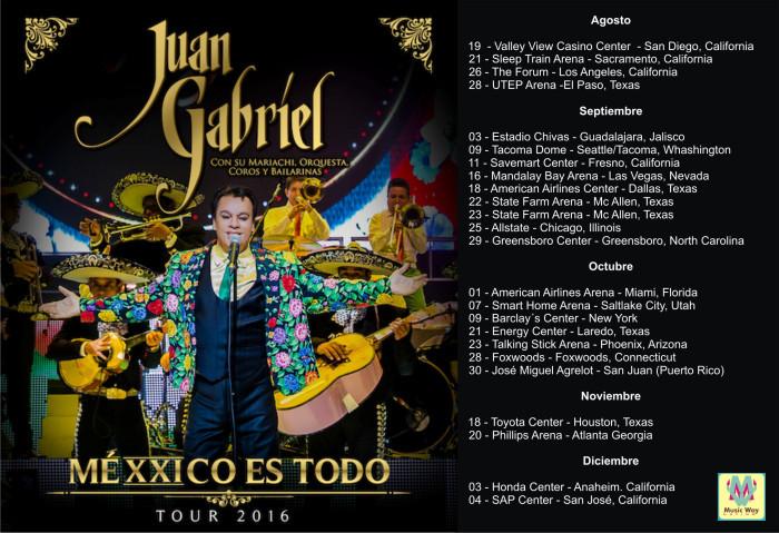 """Juan Gabriel – Regresa a Estados Unidos Con Su Gira """"MeXXico Es Todo 2016"""""""