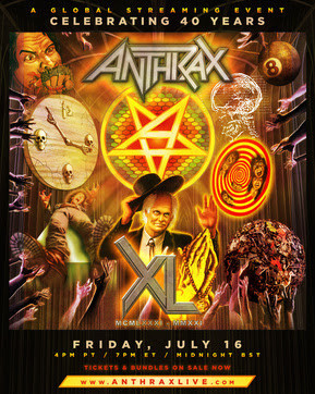 COUNTING DOWN TO ANTHRAX'S 40TH ANNIVERSARY...TICKETS FOR THE BAND'S LIVESTREAM EVENT ON SALE NOW