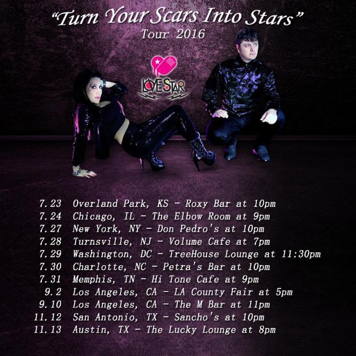 Love Star on tour through the U.S.