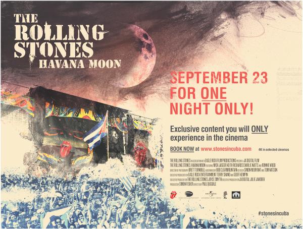Los Rolling Stones En Cuba En La Pantalla Grande