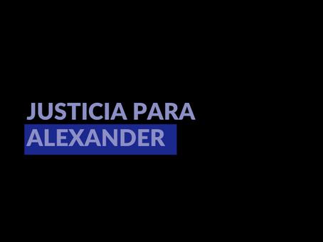 Justicia para Alexander