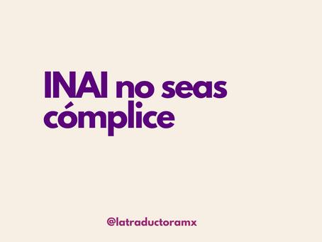 INAI no seas cómplice
