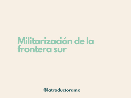 Militarización de la frontera sur
