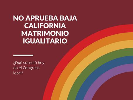No aprueba BC matrimonio igualitario