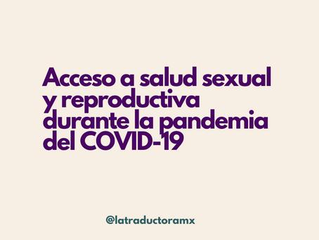 Acceso a salud sexual y reproductiva durante la pandemia del COVID-19