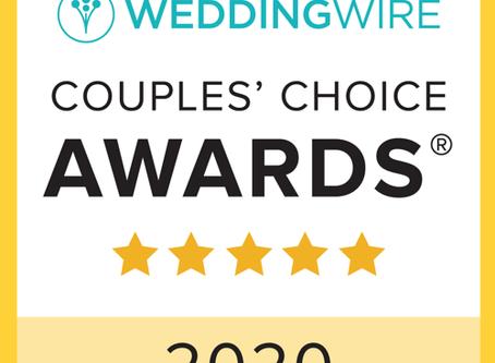 Blackstone Rivers Ranch Awarded WeddingWire Couples' Choice Award 2020