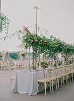 Elegant Tent Florals & Table Arrangements at Blackstone Rivers Ranch