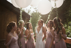 Bride Tribe with Beautiful Ballons at Blackstone Rivers Ranch