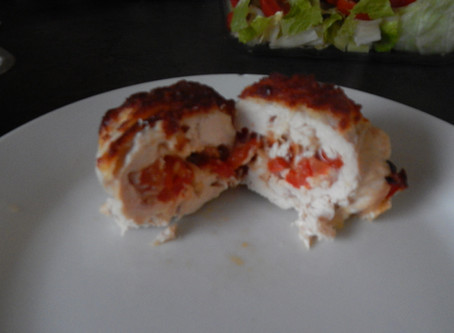 Pizza-ish Stuffed Chicken
