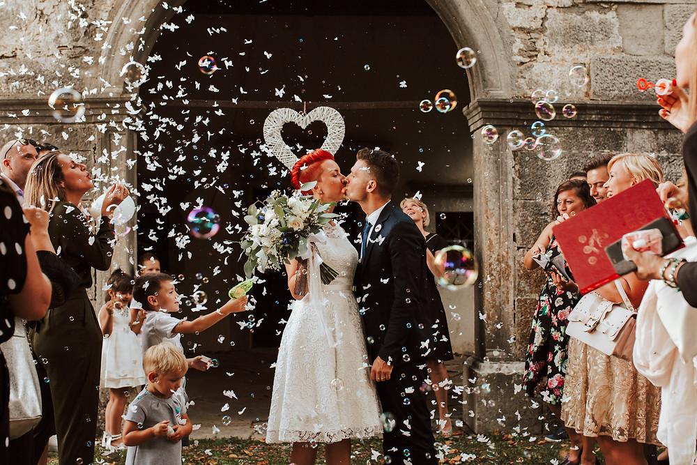 poroka in milni mehurčki