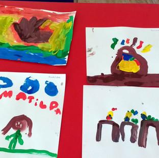 Arte de niños en Huepil Afterschool