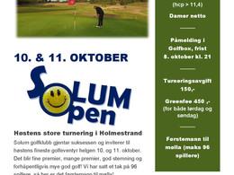 Bli med på Solum open!
