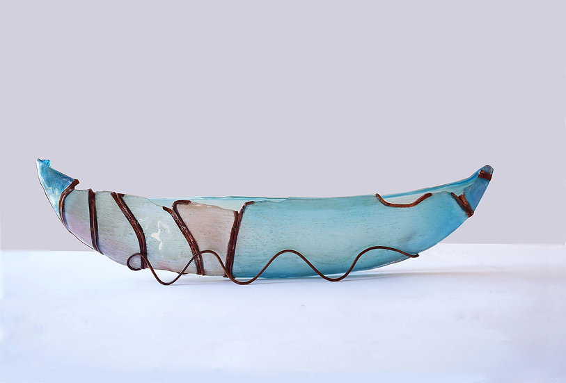 Teal boat    /collaboration with Andrea Itzeck