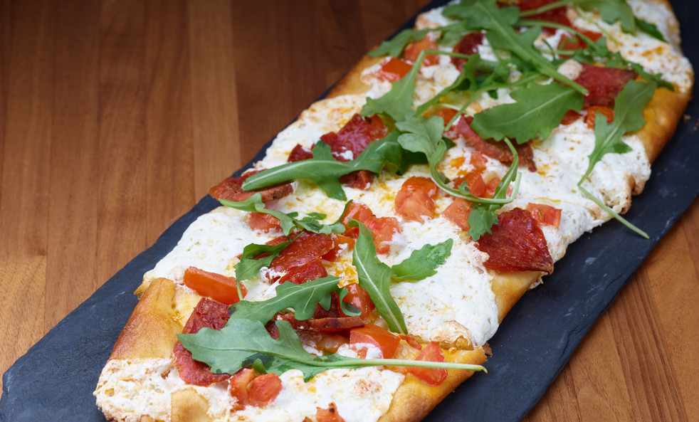 Arugula & Pepperoni Flatbread