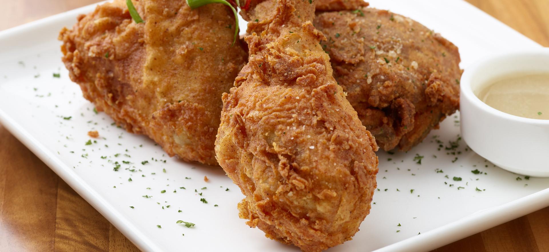 Fried Chicken with Bourbon Glaze