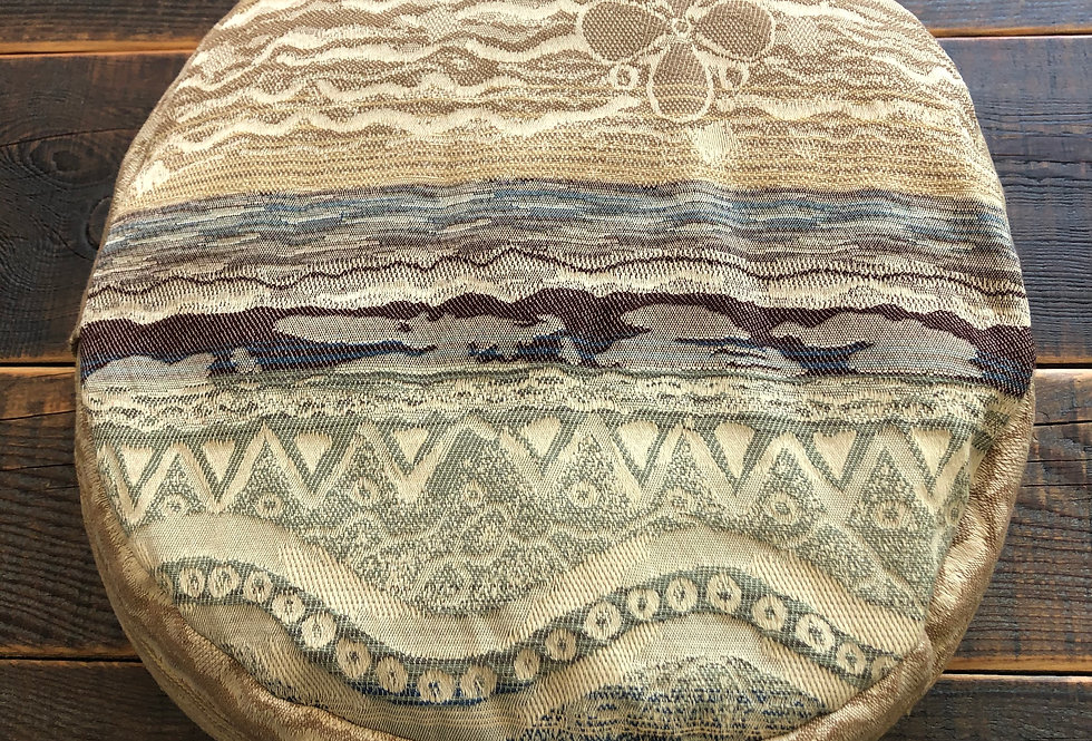 Earth-tone print Meditation Cushion